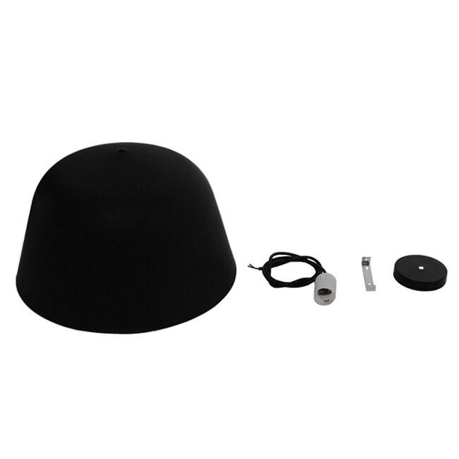 Μοντέρνο Κρεμαστό Φωτιστικό Οροφής Μονόφωτο Μαύρο Μεταλλικό Καμπάνα Φ40  EASTVALE 01281 - 9