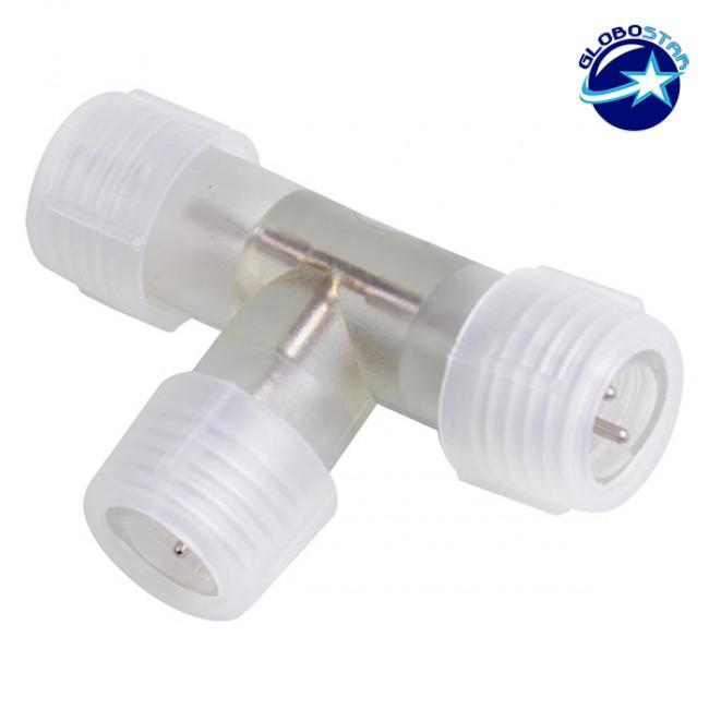Ταφ Τ Connector IP68 για Φωτοσωλήνα LED GloboStar 22636 - 1