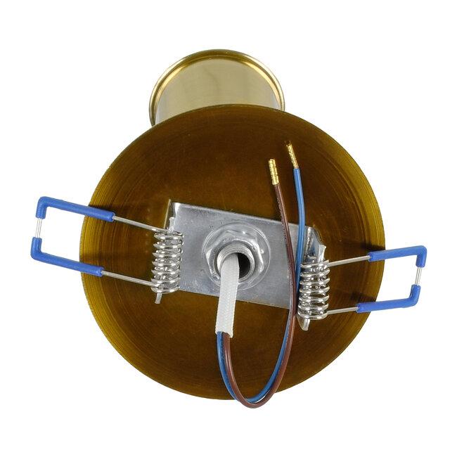 SARA 00852 Μοντέρνο Χωνευτό Φωτιστικό Οροφής / Τοίχου Μονόφωτο 1xE27 Μεταλλικό Μπρονζέ Χρυσό Φ8 x Υ8.5cm - 5
