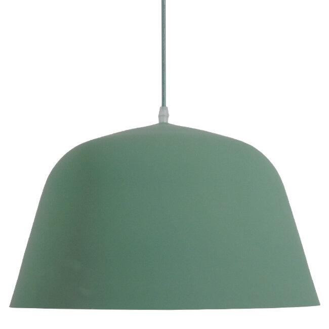 Μοντέρνο Κρεμαστό Φωτιστικό Οροφής Μονόφωτο Γκρι Πράσινο Μεταλλικό Καμπάνα Φ40  UPVALE 01285 - 3