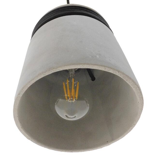 Μοντέρνο Industrial Κρεμαστό Φωτιστικό Οροφής Μονόφωτο Γκρι Τσιμέντο Καμπάνα Φ18  TRIBECA 01320 - 7