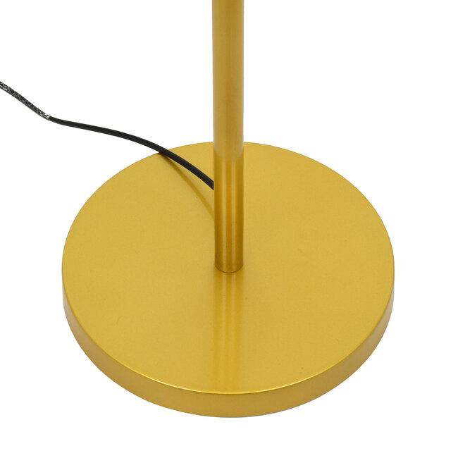 ASHLEY 00825 Μοντέρνο Φωτιστικό Δαπέδου Μονόφωτο Μεταλλικό Χρυσό με Μαύρο Καπέλο Φ40 x Υ148cm - 7