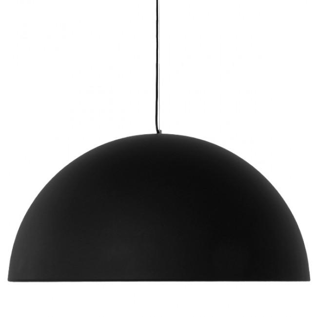 Μοντέρνο Κρεμαστό Φωτιστικό Οροφής Μονόφωτο Μαύρο Χρυσό Μεταλλικό Καμπάνα Φ60 GloboStar MEDEA 01344 - 6