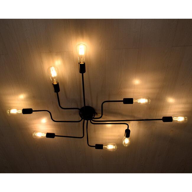 GloboStar® LIBERTA 00840 Μοντέρνο Φωτιστικό Οροφής Πολύφωτο Μαύρο Μεταλλικό Μ102 x Π72 x Υ10.5cm - 3
