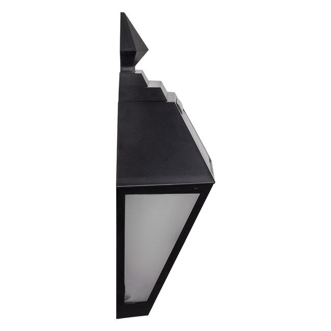 71494 Αυτόνομο Ηλιακό Φωτιστικό Τοίχου Μαύρο LED SMD 1W 100lm με Ενσωματωμένη Μπαταρία 600mAh - Φωτοβολταϊκό Πάνελ με Αισθητήρα Ημέρας-Νύχτας IP65 Ψυχρό Λευκό 6000K - 4