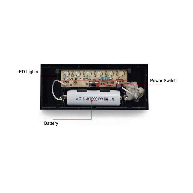71516 Αυτόνομο Ηλιακό Φωτιστικό LED SMD 1W 100 lm με Ενσωματωμένη Μπαταρία 1000mAh - Φωτοβολταϊκό Πάνελ με Αισθητήρα Ημέρας-Νύχτας για Αρίθμηση Δρόμου με Αριθμό 6 IP55 Ψυχρό Λευκό 6000k - 12
