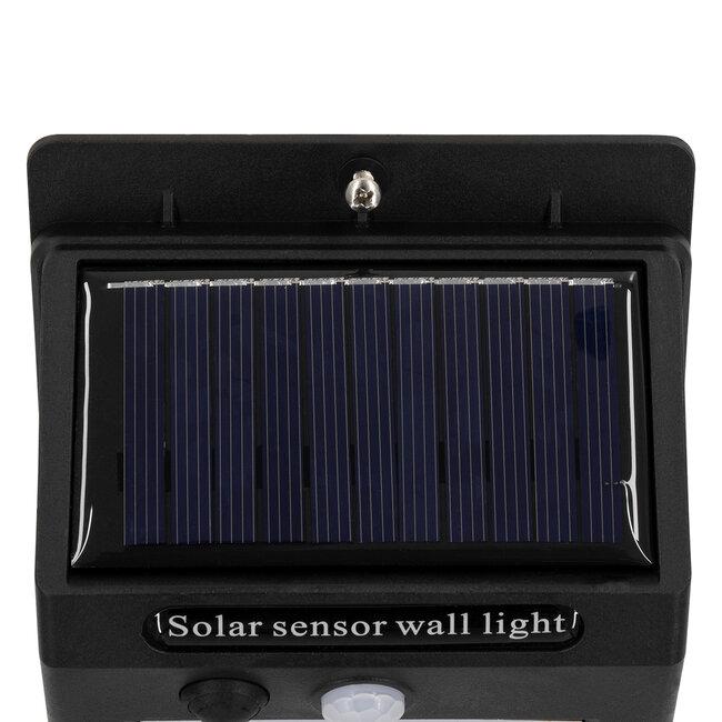 GloboStar® 71501 Αυτόνομο Ηλιακό Φωτιστικό LED SMD 8W 800lm με Ενσωματωμένη Μπαταρία 1200mAh - Φωτοβολταϊκό Πάνελ με Αισθητήρα Ημέρας-Νύχτας και PIR Αισθητήρα Κίνησης IP65 Ψυχρό Λευκό 6000K - 9