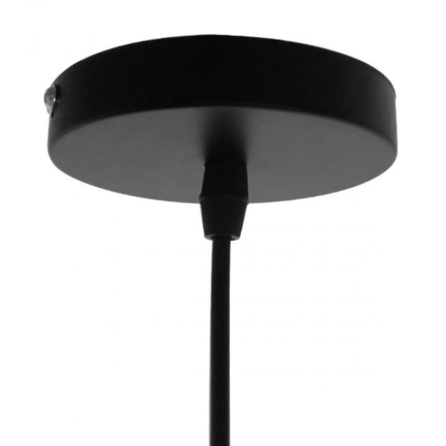 Vintage Industrial Κρεμαστό Φωτιστικό Οροφής Μονόφωτο Μαύρο Μεταλλικό Καμπάνα Φ26 GloboStar RAY BLACK 01050 - 7