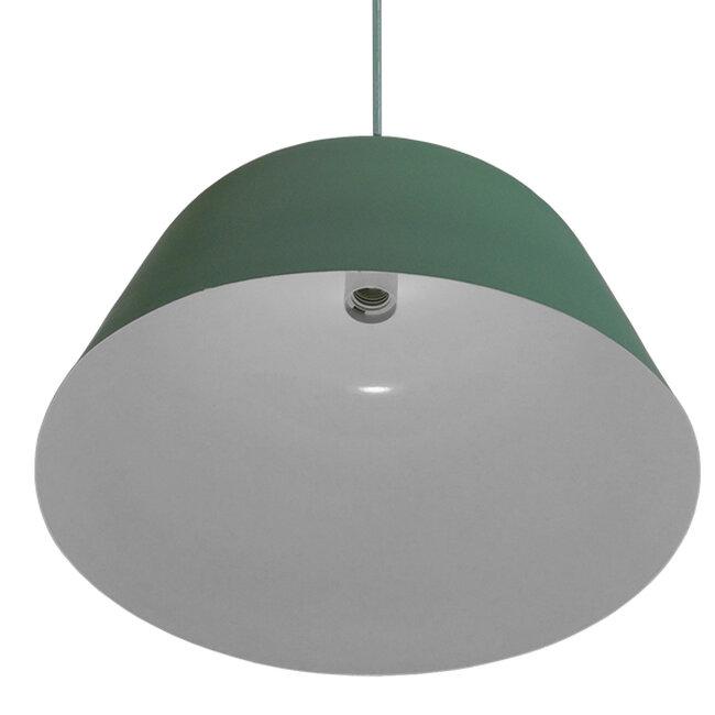 Μοντέρνο Κρεμαστό Φωτιστικό Οροφής Μονόφωτο Γκρι Πράσινο Μεταλλικό Καμπάνα Φ40  UPVALE 01285 - 5