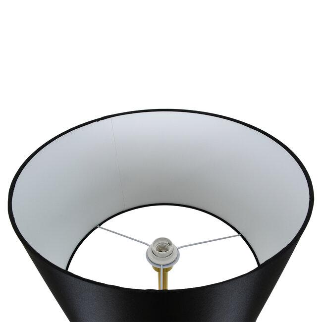 ASHLEY 00825 Μοντέρνο Φωτιστικό Δαπέδου Μονόφωτο Μεταλλικό Χρυσό με Μαύρο Καπέλο Φ40 x Υ148cm - 5