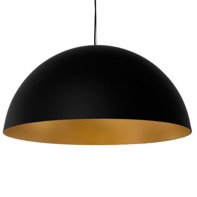 Μοντέρνο Κρεμαστό Φωτιστικό Οροφής Μονόφωτο Μαύρο Χρυσό Μεταλλικό Καμπάνα Φ60  DIADEMA 01342 - 6