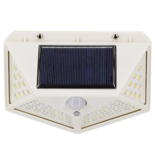 71498 Αυτόνομο Ηλιακό Φωτιστικό LED SMD 10W 1000lm με Ενσωματωμένη Μπαταρία 1200mAh - Φωτοβολταϊκό Πάνελ με Αισθητήρα Ημέρας-Νύχτας και PIR Αισθητήρα Κίνησης IP65 Ψυχρό Λευκό 6000K - 8