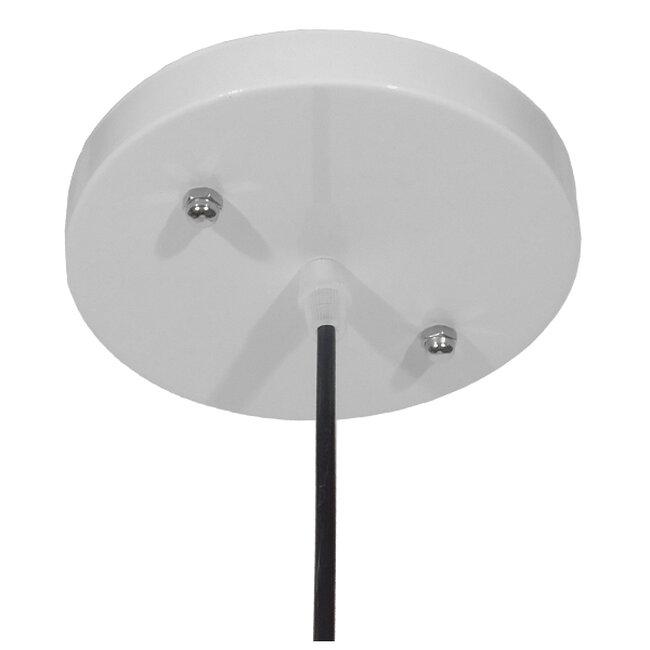 Μοντέρνο Κρεμαστό Φωτιστικό Οροφής Μονόφωτο Λευκό Μεταλλικό Καμπάνα Φ60  VALLETE WHITE 01257 - 7