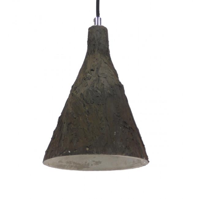 Μοντέρνο Κρεμαστό Φωτιστικό Οροφής Μονόφωτο Καφέ Τσιμέντο Φ18  VOLCANO 01080 - 1