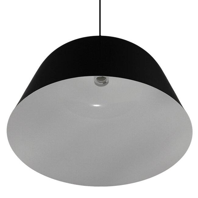 Μοντέρνο Κρεμαστό Φωτιστικό Οροφής Μονόφωτο Μαύρο Μεταλλικό Καμπάνα Φ40  EASTVALE 01281 - 5