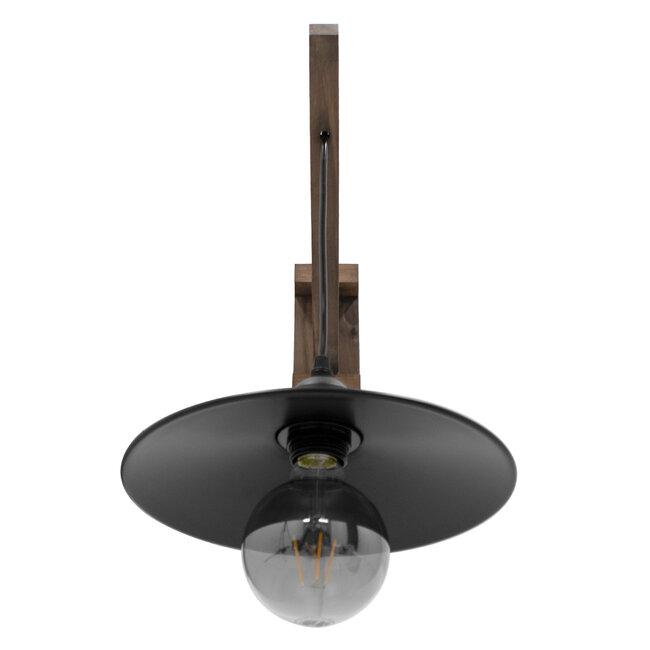 GloboStar® JONAS 00882 Vintage Φωτιστικό Τοίχου Απλίκα Μονόφωτο Καφέ Σκούρο Ξύλινο Φ26 x Μ26 x Π50 x Υ17-50cm - 5