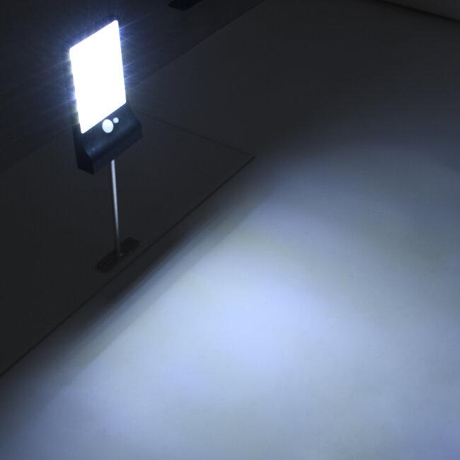 71469 Αυτόνομο Ηλιακό Φωτιστικό Τοίχου Μαύρο LED SMD 4W 550lm με Ενσωματωμένη Μπαταρία 2200mAh - Φωτοβολταϊκό Πάνελ - Βάση Στήριξης - Αισθητήρα Ημέρας-Νύχτας PIR Αισθητήρα Κίνησης Αδιάβροχο IP65 Ψυχρό Λευκό 6000K - 8