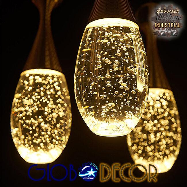 Μοντέρνο Κρεμαστό Φωτιστικό Οροφής Μονόφωτο LED Χάλκινο με Φυσητό Γυαλί  JADORE 01232 - 13