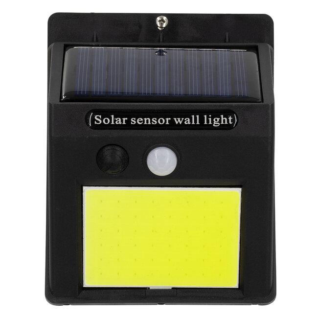 71495 Αυτόνομο Ηλιακό Φωτιστικό LED COB 10W 1000lm με Ενσωματωμένη Μπαταρία 1200mAh - Φωτοβολταϊκό Πάνελ με Αισθητήρα Ημέρας-Νύχτας και PIR Αισθητήρα Κίνησης IP65 Ψυχρό Λευκό 6000K - 6
