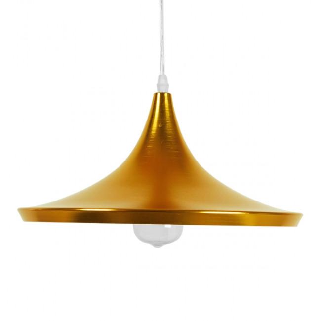 Μοντέρνο Κρεμαστό Φωτιστικό Οροφής Μονόφωτο Χρυσό Μεταλλικό Καμπάνα Φ37 GloboStar JIAXING 01545 - 3
