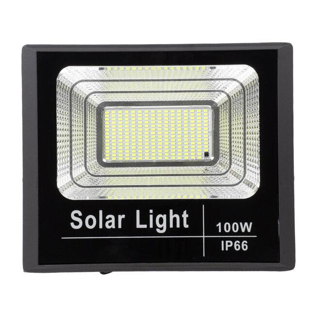 71557 Αυτόνομος Ηλιακός Προβολέας LED SMD 100W 8000lm με Ενσωματωμένη Μπαταρία 15000mAh - Φωτοβολταϊκό Πάνελ με Αισθητήρα Ημέρας-Νύχτας και Ασύρματο Χειριστήριο RF 2.4Ghz Αδιάβροχος IP66 Ψυχρό Λευκό 6000K - 5