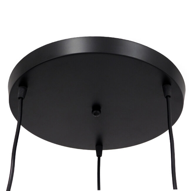 SET Μοντέρνο Κρεμαστό Φωτιστικό Οροφής Τρίφωτο Μαύρο Μεταλλικό Φ45  LITTLE MAN BLACK 01655 - 6