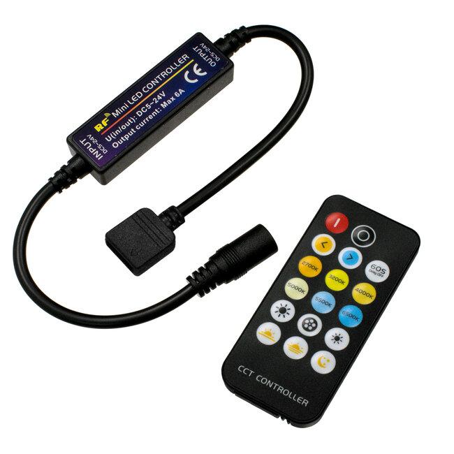 73356 Ασύρματο LED CCT Controller με Χειριστήριο RF 2.4Ghz DC 5-24V Max 144W - 2