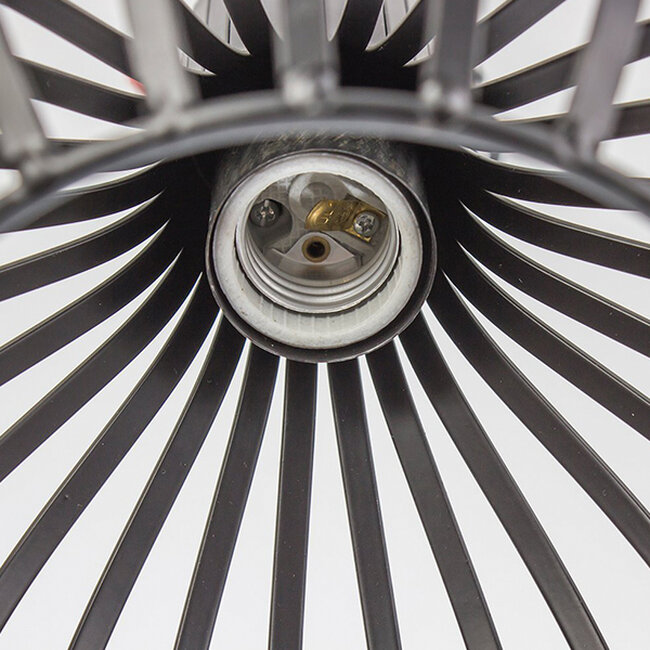 Μοντέρνο Κρεμαστό Φωτιστικό Οροφής Μονόφωτο Μαύρο Μεταλλικό Καμπάνα Φ38  GOBLET DARK 01266 - 5