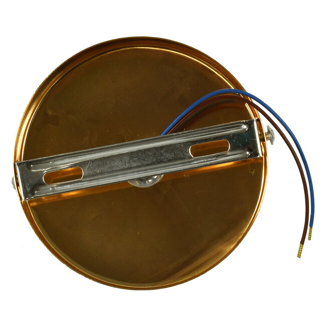 SARA 00845 Μοντέρνο Φωτιστικό Οροφής / Τοίχου Μονόφωτο 1xE27 Μεταλλικό Χρυσό Φ10 x Υ10.3cm - 5