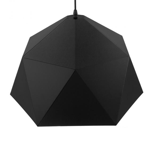 Μοντέρνο Κρεμαστό Φωτιστικό Οροφής Μονόφωτο Μαύρο Χρυσό Μεταλλικό Καμπάνα Φ46  SYLRA 01195 - 5