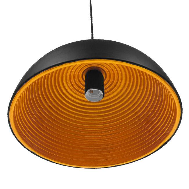 Μοντέρνο Κρεμαστό Φωτιστικό Οροφής Μονόφωτο Μαύρο Μεταλλικό Καμπάνα Φ30  CHIME BLACK 01004 - 4