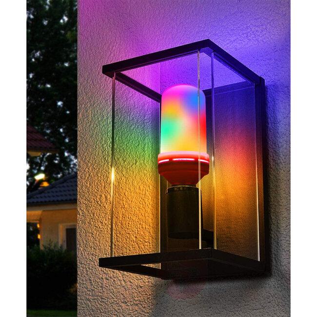 GloboStar® 76076 Λάμπα E27 TUBULAR Διακοσμητική LED 9W 450lm 320° AC 85-265V με 4 Λειτουργίες Εφέ RGB Φλόγας και Αναστροφή RGB Φλόγας - 10
