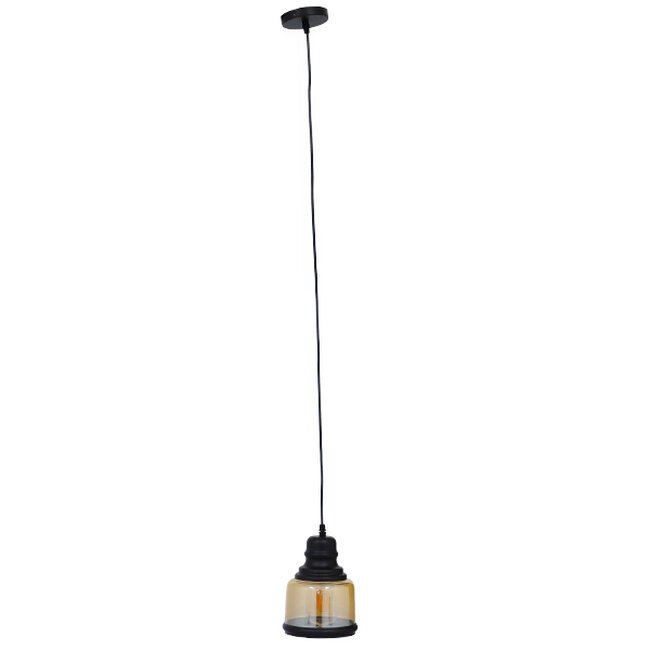 Vintage Κρεμαστό Φωτιστικό Οροφής Μονόφωτο Γυάλινο Μελί Διάφανο Φ15  WILLIAM 01506 - 3
