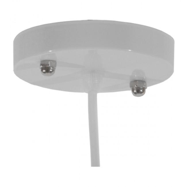 Vintage Industrial Κρεμαστό Φωτιστικό Οροφής Μονόφωτο Λευκό Μεταλλικό Καμπάνα Φ36 GloboStar RAY WHITE 01043 - 7