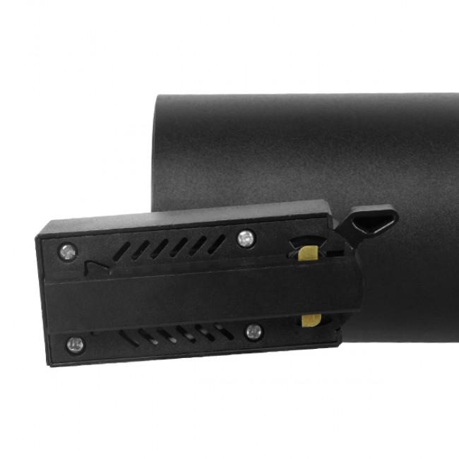 Μονοφασικό Bridgelux COB LED Μάυρο Φωτιστικό Σποτ Ράγας 10W 230V 1250lm 30° Φυσικό Λευκό 4500k GloboStar 93094 - 6