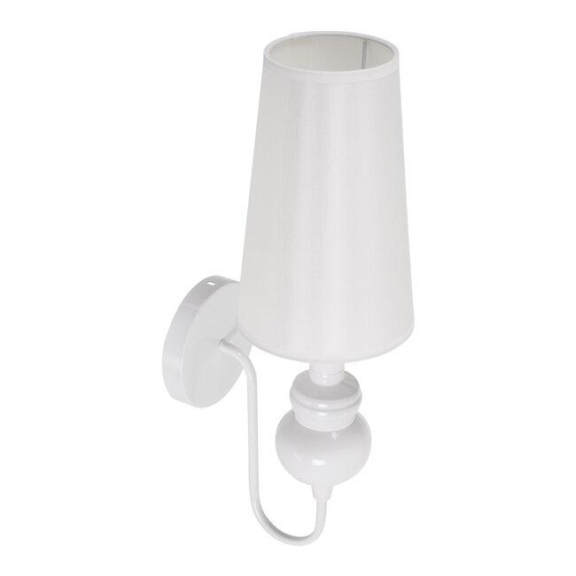LAURA 01499 Μοντέρνο Φωτιστικό Τοίχου Απλίκα Μονόφωτο Μεταλλικό Λευκό Φ15 x Μ15 x Π21 x Y48cm - 6