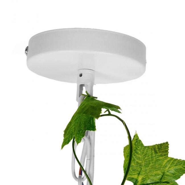 Vintage Industrial Κρεμαστό Φωτιστικό Οροφής Μονόφωτο Λευκό Μεταλλικό Πλέγμα GloboStar DAFNE 01641 - 8