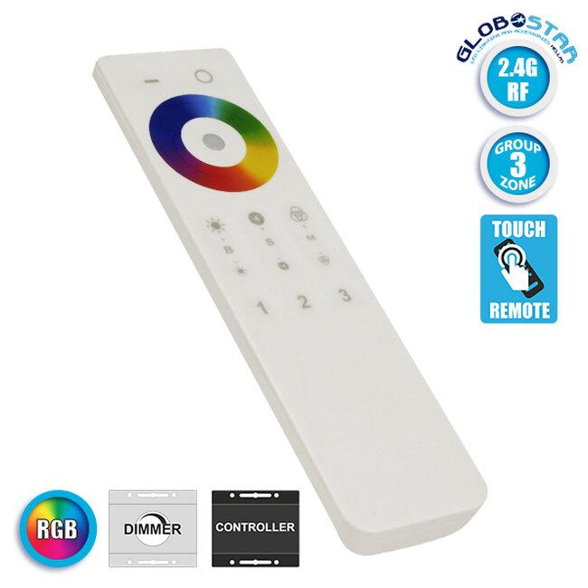 Ασύρματο LED RGB Χειριστήριο Αφής 2.4G RF Έως και 3 Διαφορετικά Groups GloboStar 73413 - 1