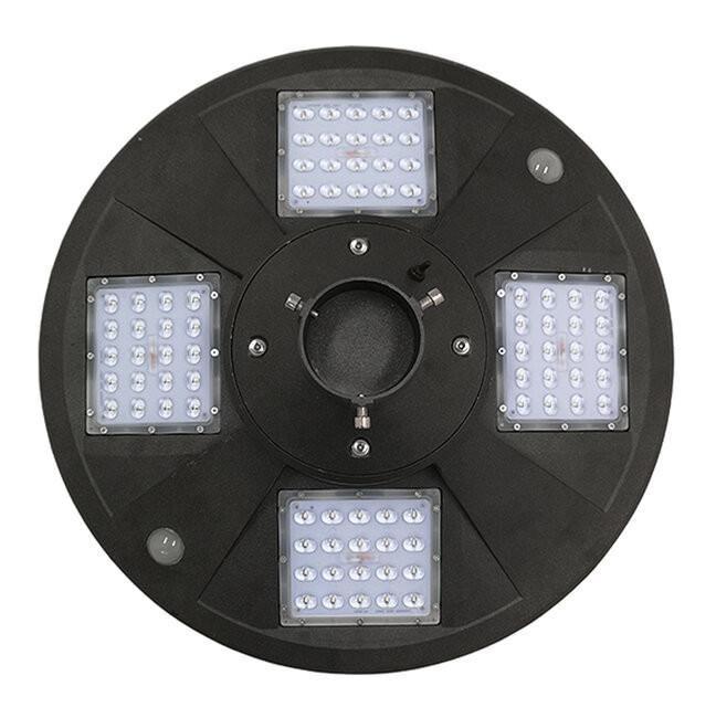 Αυτόνομο Αδιάβροχο IP65 Ηλιακό Φωτοβολταϊκό Φωτιστικό Στύλου / Κολώνας Πλατείας LED 25W με Ανιχνευτή Κίνησης, Αισθητήρα Νυχτός και Ασύρματο Χειριστήριο Θερμό Λευκό 3000k GloboStar 12118 - 3