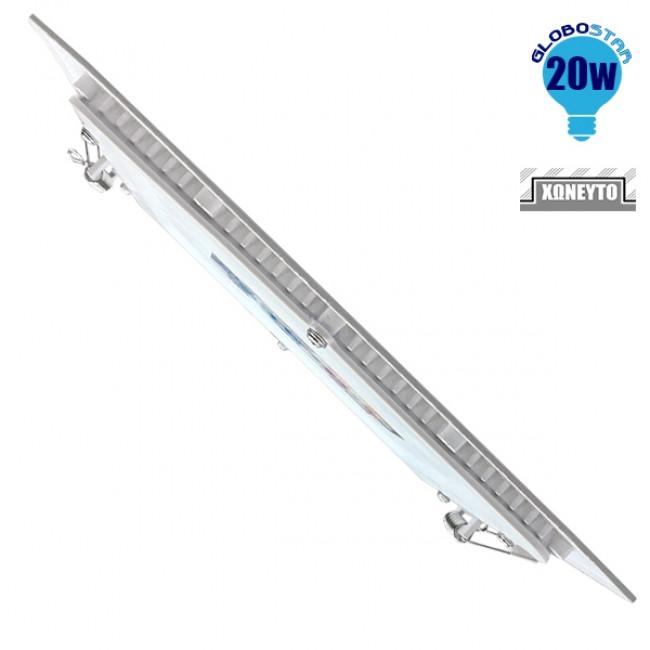 Πάνελ PL LED Οροφής Χωνευτό Τετράγωνο 20 Watt 230v Θερμό GloboStar 01886 - 3