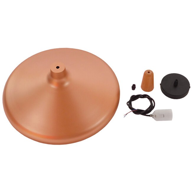 Μοντέρνο Κρεμαστό Φωτιστικό Οροφής Μονόφωτο Χάλκινο Μεταλλικό Καμπάνα Φ39  FERCLA 01223 - 7