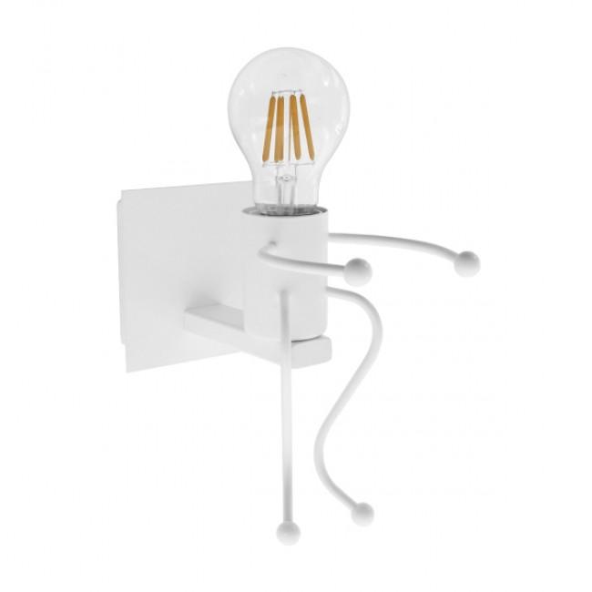 Μοντέρνο Φωτιστικό Τοίχου Απλίκα Μονόφωτο Λευκό Μεταλλικό GloboStar CLAY 01389 - 2