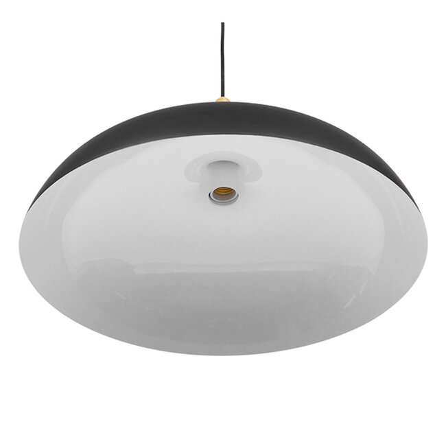Μοντέρνο Κρεμαστό Φωτιστικό Οροφής Μονόφωτο Μαύρο Μεταλλικό Καμπάνα Φ45  VALLETE BLACK 01258 - 6