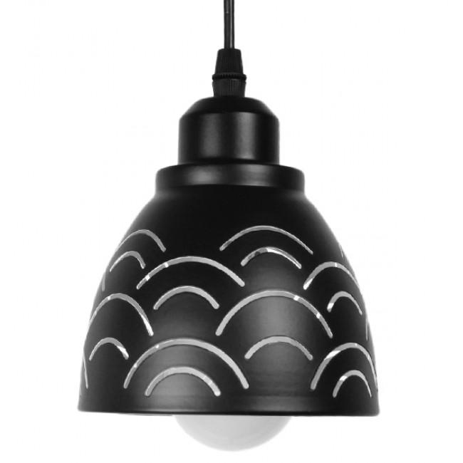 Μοντέρνο Κρεμαστό Φωτιστικό Οροφής Μονόφωτο Μεταλλικό Μαύρο Λευκό Καμπάνα Φ13 GloboStar CLOUD 01482 - 3