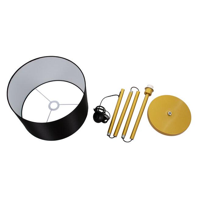 ASHLEY 00825 Μοντέρνο Φωτιστικό Δαπέδου Μονόφωτο Μεταλλικό Χρυσό με Μαύρο Καπέλο Φ40 x Υ148cm - 9