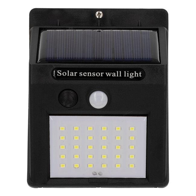 71500 Αυτόνομο Ηλιακό Φωτιστικό LED SMD 6W 600lm με Ενσωματωμένη Μπαταρία 1200mAh - Φωτοβολταϊκό Πάνελ με Αισθητήρα Ημέρας-Νύχτας και PIR Αισθητήρα Κίνησης IP65 Ψυχρό Λευκό 6000K - 6