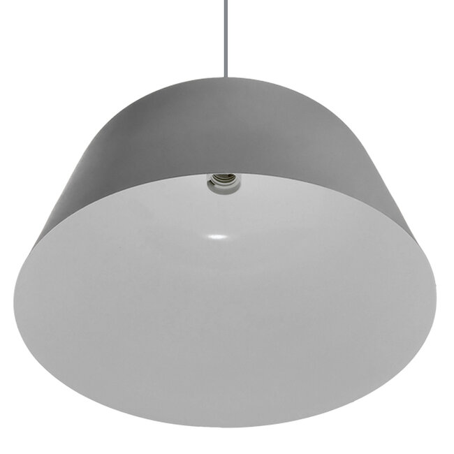 Μοντέρνο Κρεμαστό Φωτιστικό Οροφής Μονόφωτο Γκρί  Μεταλλικό Καμπάνα Φ40  WESTVALE 01282 - 5