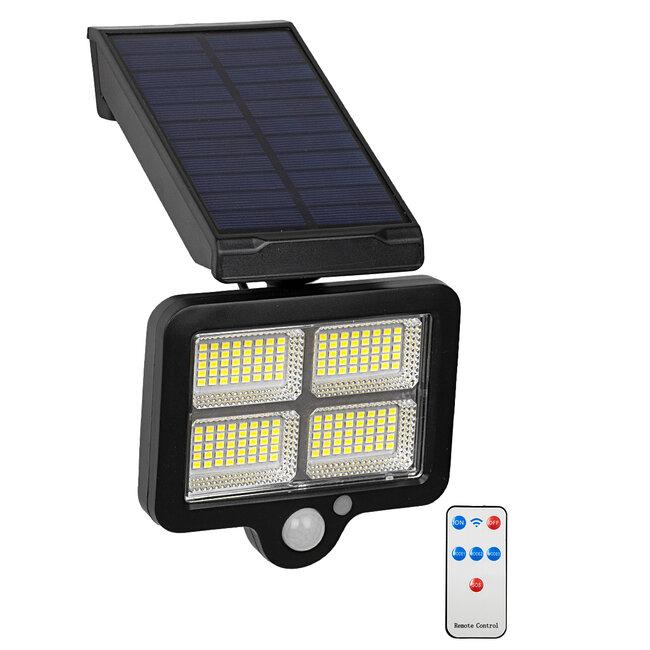 71482 Αυτόνομος Ηλιακός Προβολέας LED SMD 20W 1500lm με Ενσωματωμένη Μπαταρία 2400mAh - Φωτοβολταϊκό Πάνελ με Αισθητήρα Ημέρας-Νύχτας - PIR Αισθητήρα Κίνησης και Ασύρματο Χειριστήριο IR Αδιάβροχο IP65 Ψυχρό Λευκό 6000K - 2