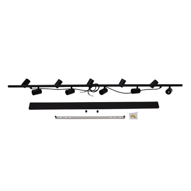 Μοντέρνο Κρεμαστό Φωτιστικό Οροφής Πολύφωτο Μαύρο Μεταλλικό Ράγα GloboStar ALFREDA 01242 - 13