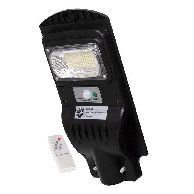 71550 Αυτόνομο Ηλιακό Φωτιστικό Δρόμου Street Light All In One LED SMD 50W 4000lm με Ενσωματωμένη Μπαταρία Li-ion 4500mAh - Φωτοβολταϊκό Πάνελ με Αισθητήρα Ημέρας-Νύχτας PIR Αισθητήρα Κίνησης και Ασύρματο Χειριστήριο RF 2.4Ghz Αδιάβροχο IP - 2